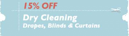 Cleaning Coupons | 15% off drapes, blinds and curtains | NJ Steamers